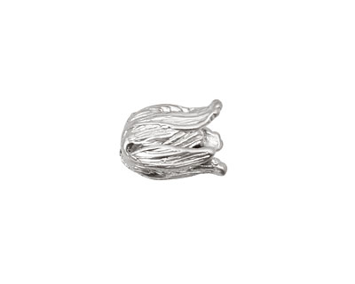 Ezel Findings Rhodium (plated) Small Tulip Bead Cap 13x9mm