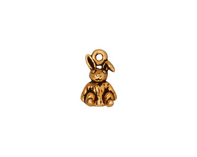 TierraCast Antique Gold (plated) Rabbit Charm 8x14mm