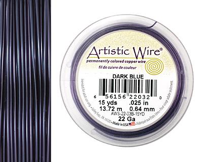 Artistic Wire Dark Blue 22 gauge, 15 yards