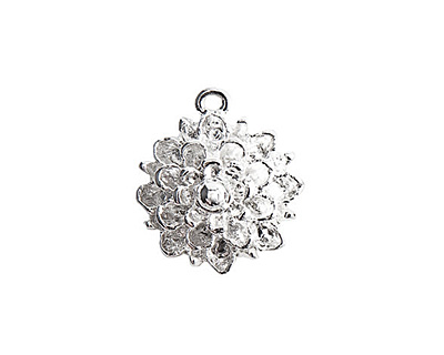 Nunn Design Sterling Silver (plated) Mum Flower Charm 17x19mm
