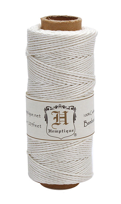 White Bamboo Cord 20 lb, 205 ft
