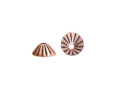 Nunn Design Antique Copper (plated) Limpet Bead Cap 5x11mm