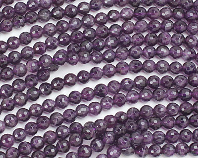 Amethyst Faceted Round 6mm