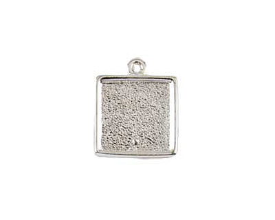 Nunn Design Sterling Silver (plated) Mini Square Frame Charm 15x17mm