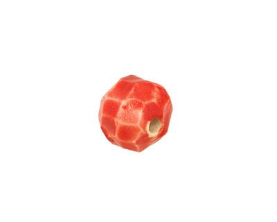 Gaea Ceramic Red Hot Geode Round 15-17x18-19mm