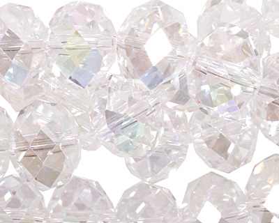 Clear AB Crystal Faceted Rondelle 14mm