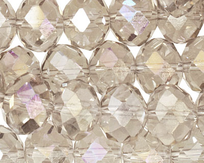 Antique AB Crystal Faceted Rondelle 14mm