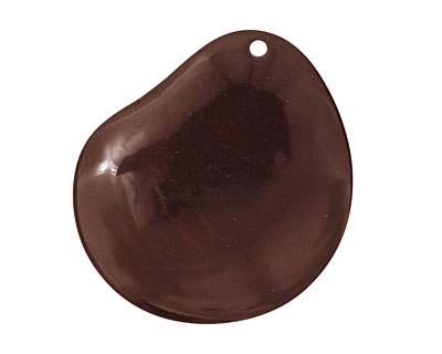Tagua Nut Espresso Groovy Slice 25-35x30-42mm