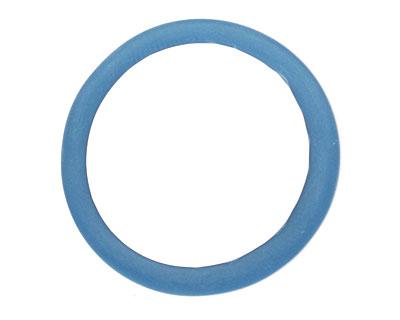 Trinket Foundry Capri Blue Glass Bottle Ring 29-40mm