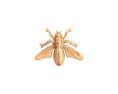 Nunn Design Brass Honeybee Embellishment 19x15mm