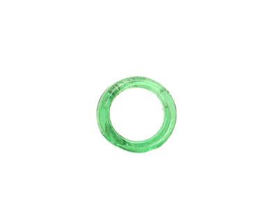 Trinket Foundry Transparent Bottle Green Mini Glass Bottle Ring 9-13mm