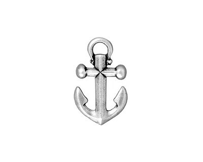 TierraCast Antique Silver (plated) Anchor Charm 12x20mm