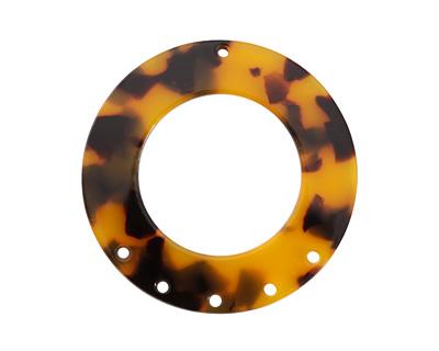 Zola Elements Tortoise Shell Acetate Donut Chandelier 38mm