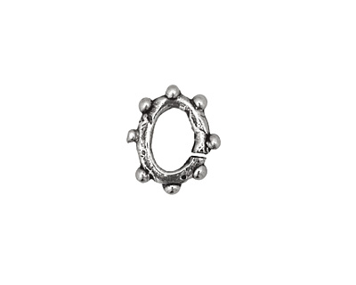 Rustic Charms Sterling Silver Bumpy O-Ring 12x11mm