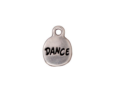 TierraCast Antique Silver (plated) Dance Charm w/ Glue In 12x16mm