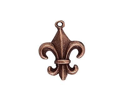 Nunn Design Antique Copper (plated) Fleur Charm 17x23mm