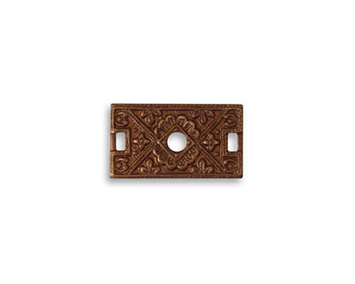 Vintaj Natural Brass Etruscan Rectangle Connector 17x10mm