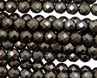 Hematite Faceted Round 6mm