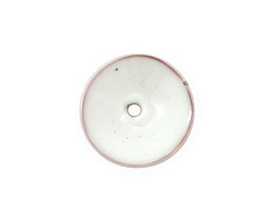 C-Koop Enameled Metal White Disc 3-4x18-20mm