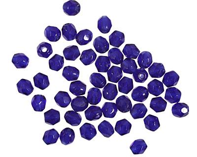 Czech Fire Polished Glass Cobalt Round 3mm