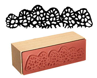 Tatted Border Rubber Stamp 70x17mm