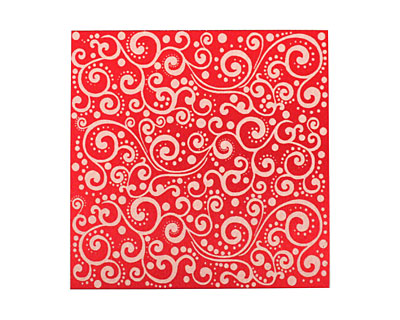 Lillypilly Red Scrolling Vine Anodized Aluminum Sheet 3
