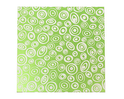 Lillypilly Lime Green Groovy Circles Anodized Aluminum Sheet 3