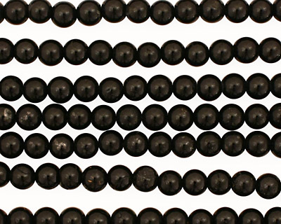 Black Tourmaline Irregular Round 5mm