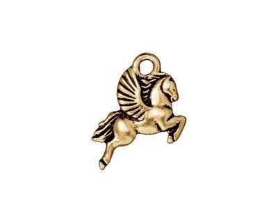 TierraCast Antique Gold (plated) Pegasus Charm 15x20mm
