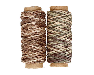 Camouflage/Earthy Hemp Twine 20 lb, 29 ft x 2 colors