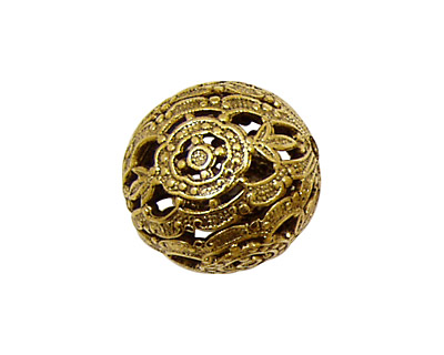 Stampt Antique Gold (plated) Filigree Ball 20mm