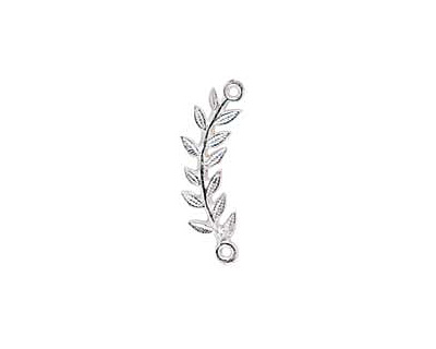 Nunn Design Sterling Silver (plated) Right Leaf Connector 33x8mm