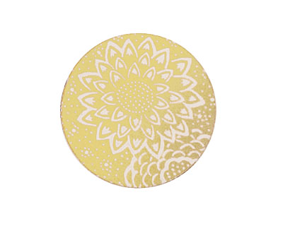 Lillypilly Gold Dahlia Anodized Aluminum Disc 25mm, 22 gauge