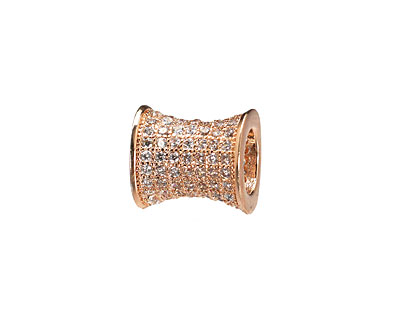 Rose Gold (plated) CZ Micro Pave Hourglass 12x10mm
