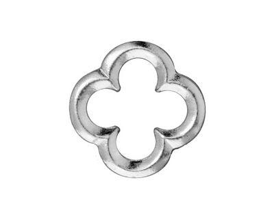 TierraCast Rhodium (plated) Large Quatrefoil Link 21mm