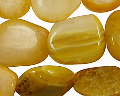 Yellow Botswana Agate Flat Freeform Slab 18x14-32x26mm