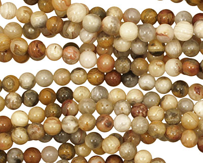 Crazy Lace Agate Round 4mm