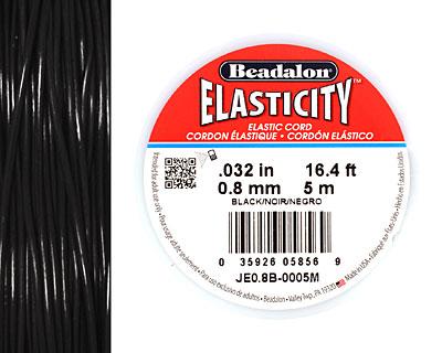 Elasticity Black .8mm, 5 meters