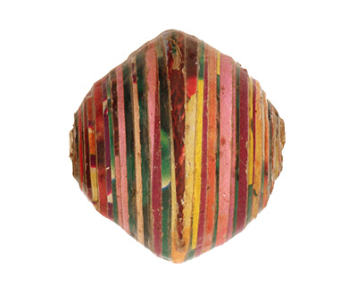 African Paper (green, pink, yellow) Bicone 24-25x26-27mm