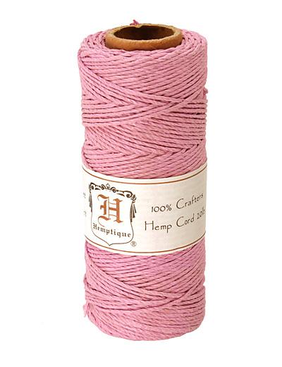 Light Pink Hemp Twine 20 lb, 205 ft