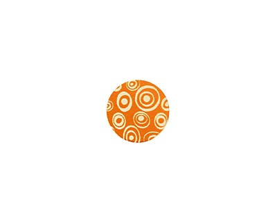 Lillypilly Orange Groovy Circles Anodized Aluminum Disc 11mm, 24 gauge