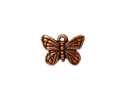 TierraCast Antique Copper (plated) Monarch Charm 16x11mm