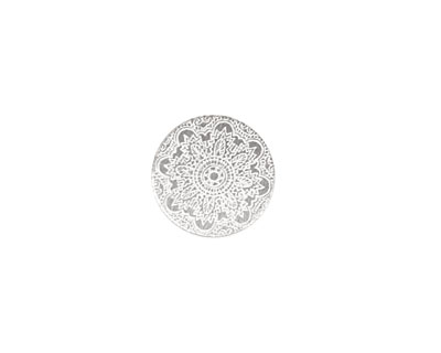 Lillypilly Silver Lace Anodized Aluminum Disc 19mm, 22 gauge