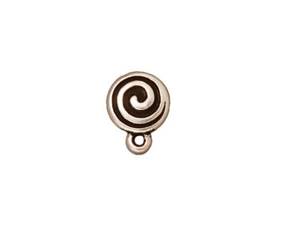 TierraCast Antique Silver (plated) Spiral Ear Post 10x13mm