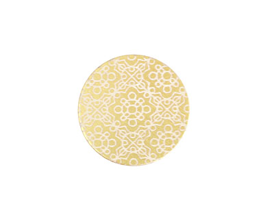 Lillypilly Gold Baroque Anodized Aluminum Disc 19mm, 22 gauge