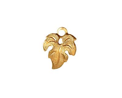 Brass Small Maple Leaf 13x16mm