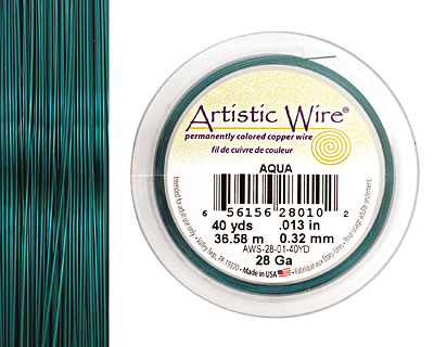 Artistic Wire Aqua 28 gauge, 40 yards