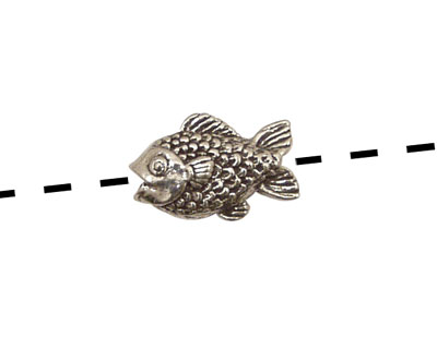 Green Girl Pewter Baby Fishy 18x12mm