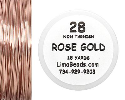 Parawire Rose Gold 28 Gauge, 15 Yards