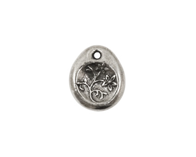 Green Girl Pewter Little Blessings Healing Flower 13x16mm